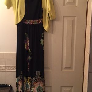 Dress Barn full length dress with jacket